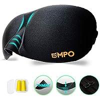 EMPO Schlafbrille Weich Memory-Schaumstoff Augenmaske - komfortabel Verstellbare Gurte für alle Kopfgrößen - Hilft... preisvergleich bei billige-tabletten.eu