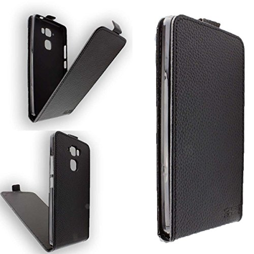 caseroxx Hülle/Tasche Flip Cover Passend für Medion Life X5520 MD 99607, Schutzhülle (Handytasche klappbar in Schwarz)
