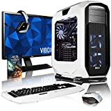 VIBOX Rapture L780-690 Gaming PC Computer mit Spiel Bundle, 27 Zoll HD Monitor (4,6GHz Intel i7 6-Core, MSI Armor GeForce GTX 1080 Grafikkarte, 16Go DDR4 RAM, 240GB SSD, 3TB HDD, Ohne OS)