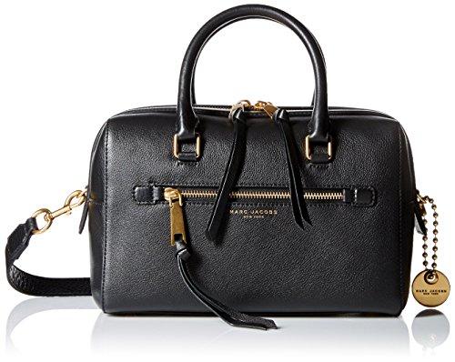 Marc Jacobs borsa bauletto da donna, maniglia superiore, marrone, 15x 24x 29cm (L x H x L), Bauletto, nero