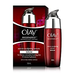 Olay Regenerist Advanced Anti Aging Micro Sculpting Serum Intense Hydration with Hydra Firming Complex Skin Cream, 50ml