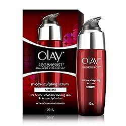 Olay Regenerist Advanced Anti Aging Micro Sculpting Serum Intense Hydration with Hydra Firming Complex Skin Cream, 50ml