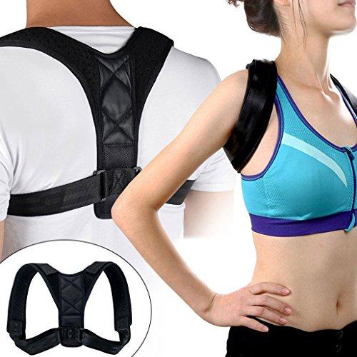 Geradehalter zur Haltungskorrektur, XiDe Schulterbandage Rückenbandage Posture Corrector, Schmerzlinderung für Nacken Schulter Rücken Haltungsbandage, Verstellbare Größe 70-120cm für Männer und Frauen