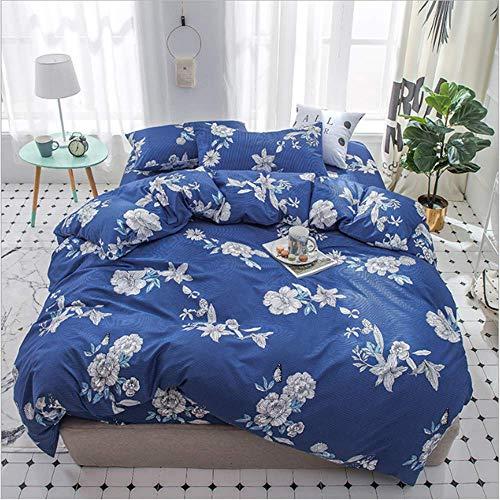SHJIA Textile Twin Full Bettwäsche Set Niedliche Bettbezug Kissenbezug Flaches Blatt Mädchen Kind Teen Bettwäsche B 200x230 cm (Bettwäsche Hund Twin)