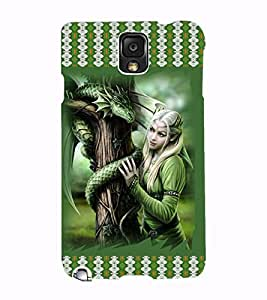 Fuson 3D Printed Girly Designer back case cover for Samsung Galaxy Note 3 - D4142