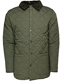 SoulStar Soul Star Mens Diamont Quited Jacket Padded Quilt Cordroy Neck