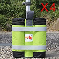 Super Heavy Duty New Premium Instant Shelters Weight Bags- Set of 4 (green/black)