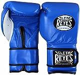Cleto Reyes de boxe Gants d'entraînement Collection, Professional, Safetec, à lacets, Velcro, rembourrage supplémentaire, Hybrid Sac de manchette Coupe et gants, Blue (Hoop and Loop)