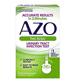 AZO Urinary Tract Infection (UTI) Test Strips | Accurate Results in 2 Minutes | Clinically Tested | Easy to Read Results | Clean Grip Handle | #1 Most Trusted Brand | 3 Self-Testing Strips