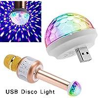 ZHOUBA Mini USB Disco Bühnenmikrofon Magic Bunt Licht Home Party Deko Lampe, Plastik, weiß, Einheitsgröße preisvergleich bei billige-tabletten.eu