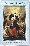 Ferrari & Arrighetti Libretto Mini Santo Rosenkranz 6,5 x 9,5 Madonna die Knoten - französisch (4er Pack)