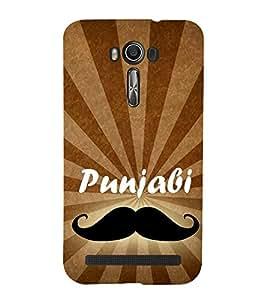Punjabi 3D Hard Polycarbonate Designer Back Case Cover for Asus Zenfone 2 Laser ZE500KL (5 INCHES)