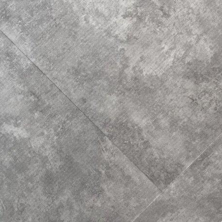Klick-Vinyl Bodenbelag Marmor Betongrau 0,55mm Fliesen Steinoptik (1,495m²)