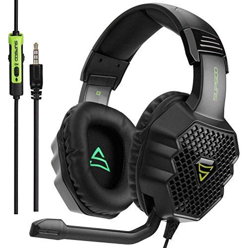 [2017 Supsoo G811 Multi-Platform Neue Xbox ein PS4 Gaming Kopfhörer]3,5mm Verdrahtet überOhr Gaming Kopfhörer mit Mikrofon Depp Bass Noise Cancelling Kopfhörer für neue Xbox ein PS4 PC Laptop Mac iPad (Logitech Ipad 2 Lautsprecher)
