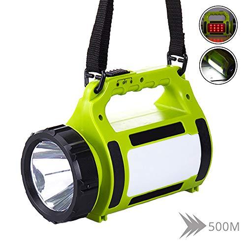 SHENGY Torche LED Rechargeable, lumière de Camping Multifonction, projecteur à LED imperméable à l'eau, Lampe de Poche à Faisceau Haute Puissance, Lanterne légère, 2200mAh