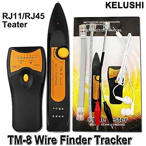 Cruiser Tracker RJ45RJ11BNC Telefono Cavo Di Rete LAN Ethernet TV cavo elettrico Wire Line Finder Toner Tracer tester TM8