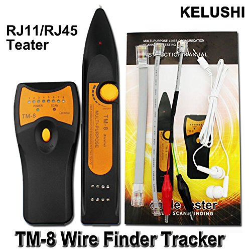 Cruiser RJ45 RJ11 BNC Telefon Draht Tracker Netzwerk LAN Ethernet TV Kabel Electric Wire Line-Finder Toner Tracer Tester TM8 (Tracer Kabel-tv)