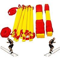 YNXing Trainings-Bodenleiter mit 12Sprossen, für Fußball / Sport / Fitness / Training, verbessert die Agilität & Beinarbeit