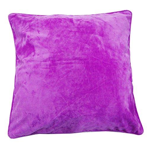 Designer Purple Velvet Kissenbezug 60 Cm Plain Wohnkultur Kunst Kissenbezug 24