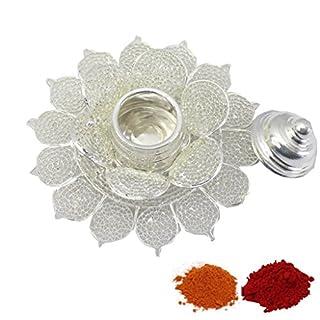 Amba Handicraft Indische Traditionelle Deko Pooja Thali, schöne Lakshmi Festival ethnische Geschenk für Sie/Kankavati / Diwali/indisches Kunsthandwerk/Zuhause / Tempel/Büro / Hochzeit Geschenk GS29