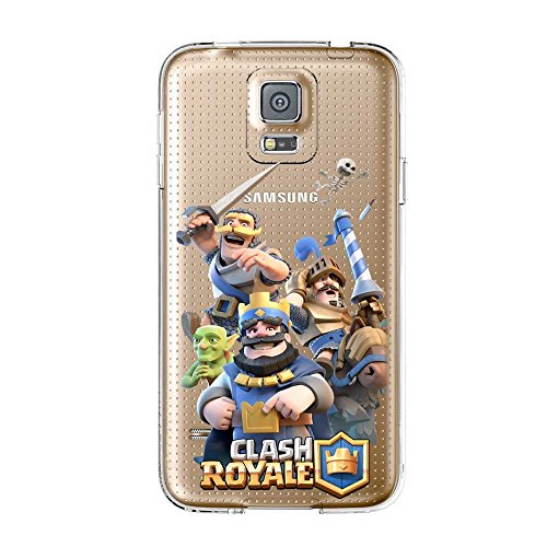 TPU Softcae Weiß Protective Schutzhülle Handycover Etui Bumper Staubdicht Telefon-Kasten Case Shell Abdeckung Back Cover Gaming Collection Clash Royale iPhone 5 5S Clash 479