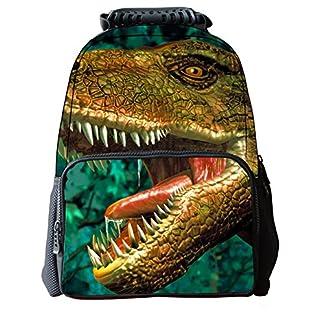 512FfhkBTFL. SS324  - Moin 3d dinosaurio mochila de los alumnos de la personalidad mochila versátil y duradero