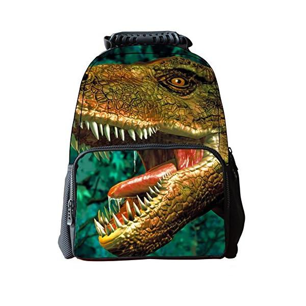 Moin 3d dinosaurio mochila de los alumnos de la personalidad mochila versátil y duradero