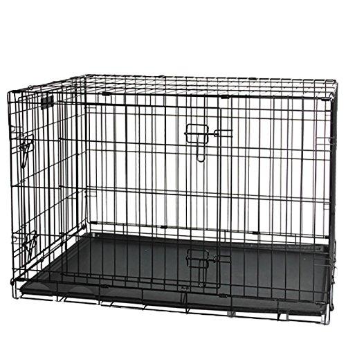 Pawise Pet SMALL-62x43,5x50cm Kennel per Cane Pieghevole in Acciaio, 62x43x50 cm