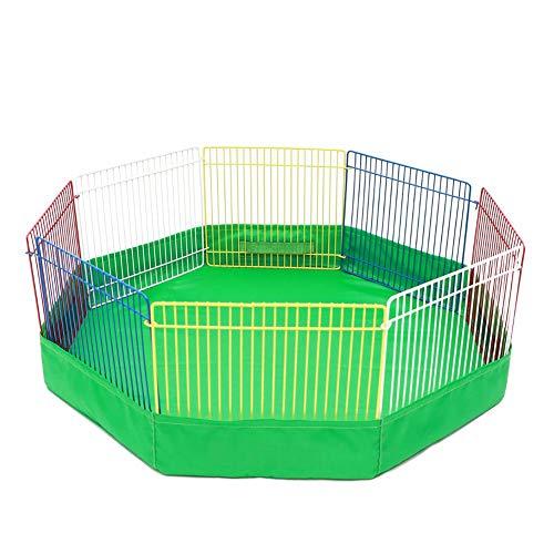 Ingeniously Zaun Laufgitter Bunte Pet Breeder Pen Hamster Spielpads Kleine Pet Play Pad Pet Pens Spielen Sie Im Pool Faltbare Metall Pet Übung Und Laufgitter (OPP) -