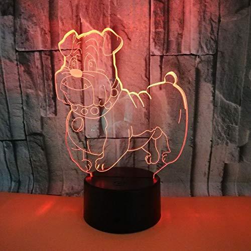 Wangyi Nachtlicht 3D Nachtlichter Buggy 7 LED Farben blinkende Notenschalter Dekoration Geschenke,...