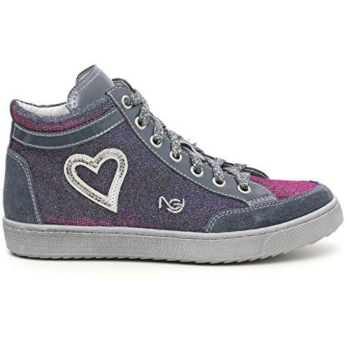Nero Giardini Junior , Mädchen Sneaker Blau blau 28 Velour Serena