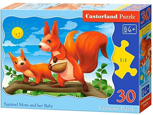 Castorland B-03693 - Sartén clásica (30 Piezas), diseño de Ardilla y su bebé