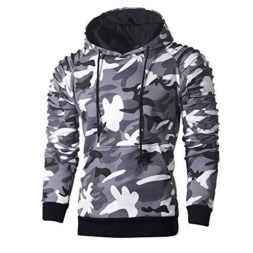 "Herren Kapuzenpullover,TWBB Camouflage Pullover Mit Tasche Sweatshirt Herbst Winter Lange Ã""rmel Mantel Outwear Sweatjacke Hemd"