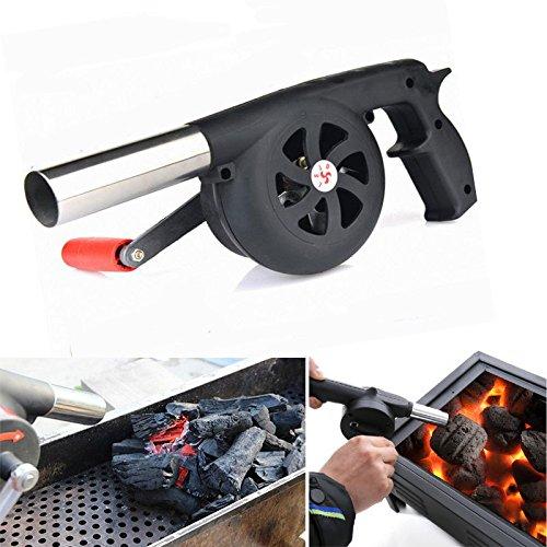 Bazaar Outdoor Camping BBQ Luft Gebläse Picknick Grill Kochen Feuer Ventilator Handkurbel