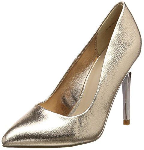 710552a1 New Look Tasteful, Zapatos de tacón con Punta Cerrada para Mujer, Dorado  (Rose