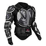 MagiDeal Motorrad Schutzjacke Spine Brustpanzer Körperpanzer Protektor Brustschutz Jacke - Schwarz XXXL