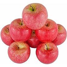 8PCS simulazione artificiale falso mela rossa set falso Fruit for home House Kitchen decorazione della festa nuziale fotografia