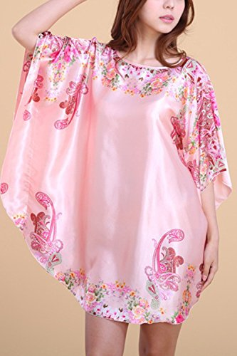 Frauen-Schläger-Hülsen-Satin-Minitägiges Hemd-Kleid Nightgown 07