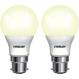 Eveready Base B22 7 Watt LED Bulb  Pack of 2, Warm White Light