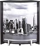 SIMMOB Meuble Comptoir Bar Noir Imprimé - Coloris - Manhattan 508 Bois