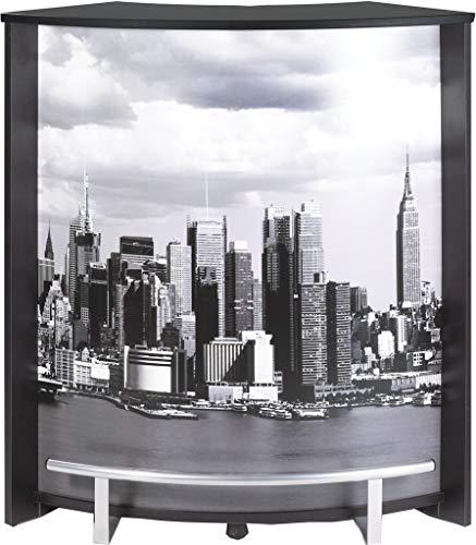 Simmob Meuble Comptoir Bar Noir Imprimé - Coloris - Manhattan 508, Bois