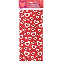 Cellophane Hearts Afire Valentine Party Bags, Pack of 20