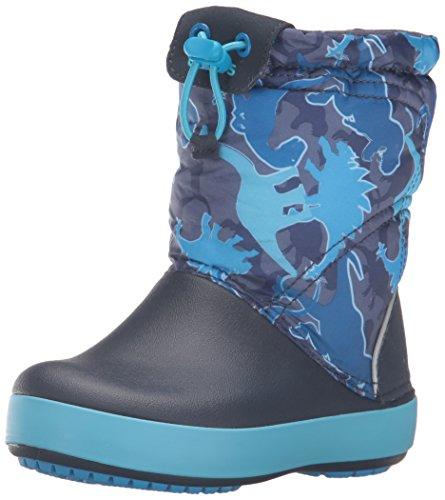 Crocs Cbndldgptgrphk, A Collo Alto Unisex - Bambini, Blu (Blue Camo), 22-23 EU