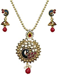Zaveri Pearls Jewellery Set For Women (Multi-Colour) (ZPFK3764)