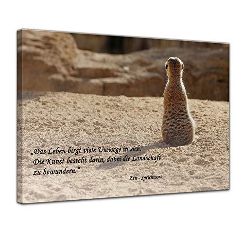 Bilderdepot24 Leinwandbild mit Zitat – Das Leben – (Zen-Sprichwort)
