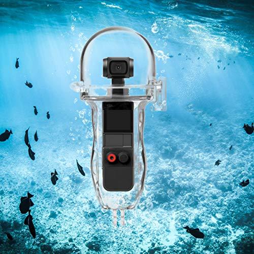 O'woda OSMO POCKET Custodia impermeabile, custodia protettiva Resistente all'Acqua fino a 60m di Profondità per accessori DJI OSMO POCKET (trasparente)