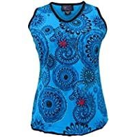 6fbbed991df6 Wicked Dragon Mandala V Neck Sleeveless Summer top up to Plus Size