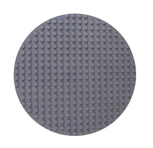 Premium Big Briks Grigio 31,75 centimetri diametro del cerchio impilabile con base BA - Compatibile con tutte le principali marche Large Size - Grandi Pioli Solo