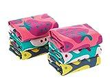 Juego de 6 toallas útiles bebé / niños 3 capas de algodón suave toallas para bebé