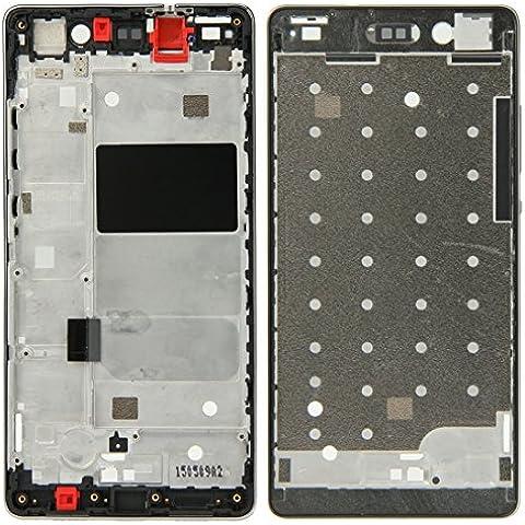 Piezas de repuesto de teléfonos móviles, iPartsBuy frontal de la carcasa del LCD de la placa del bisel del capítulo para Huawei P8 Lite ( Color : Negro )